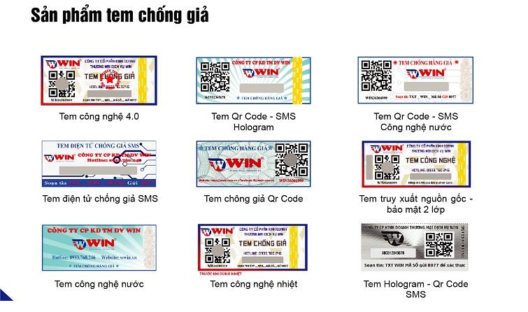 các loại tem công nghệ chống giả
