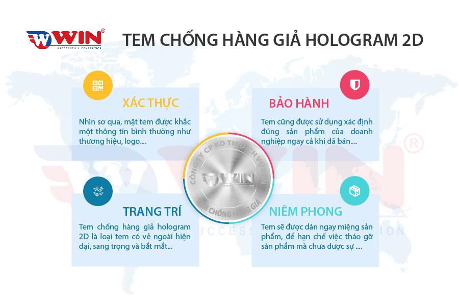 Công dụng chính của tem chống giả Hologram 2D